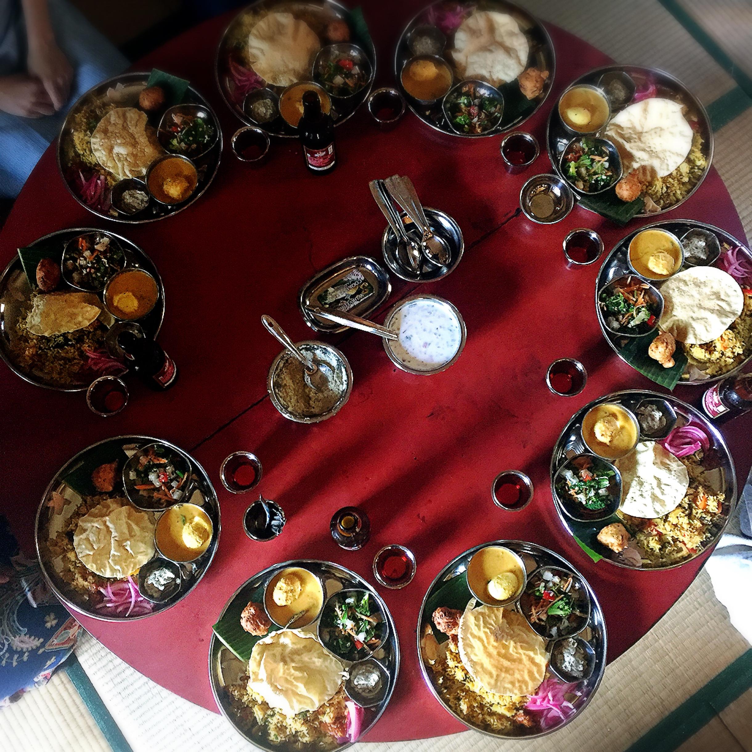 桃草舎の南インド料理教室の様子